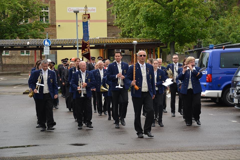 Fahnenweihe der Freiwilligen Feuerwehr Waghäusel Abt. Kirrlach