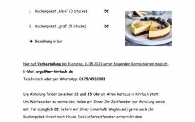 Kuchenverkauf 13.05.